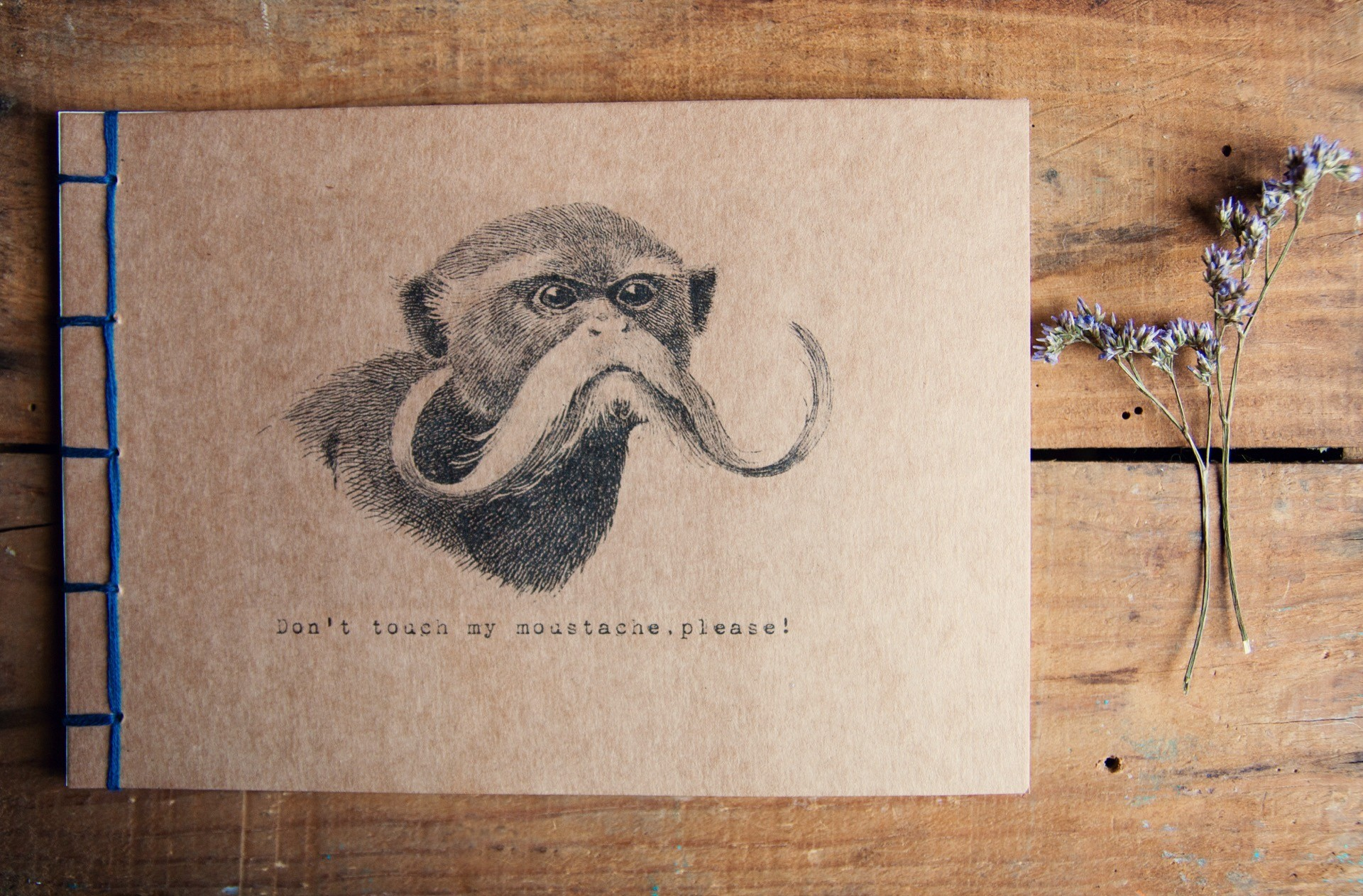 Manuche Postcards from - Don't touch my moustache please!