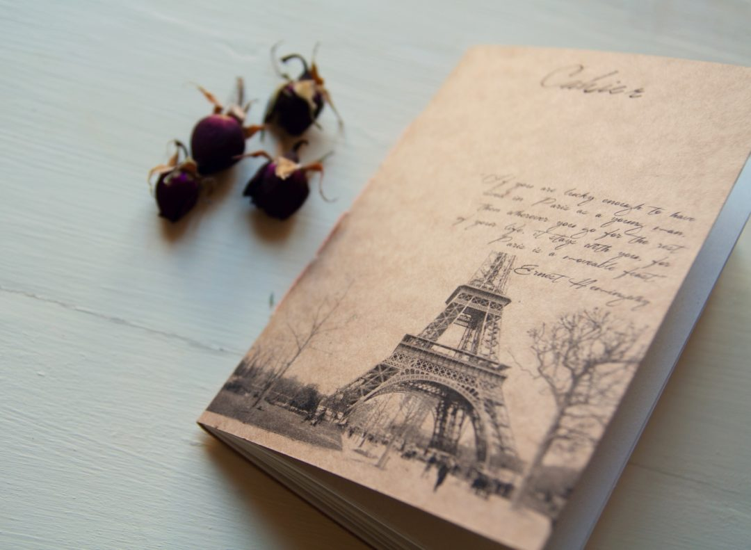 Manuche Postcards from Paris handmade notebook